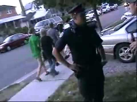 A couple of young men exercise their right to videotape police. This is from Canada. It may be illegal to video tape police in some American states. For more...