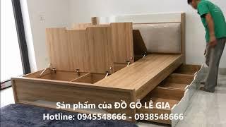 Video giường ngủ thông minh gỗ công nghiệp ĐỒ GỖ LÊ GIA LG-GN102