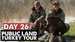 PUBLIC LAND TOM IN THE SNOW! - Public Land Turkey Tour Day 26