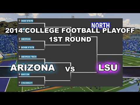 2014 College Football Playoff Offline Dynasty #3 Arizona cpu vs #6 LSU cpu   og