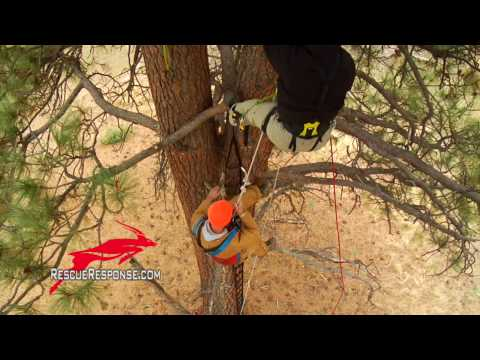 Tree Climber Rescue   Vertical Single Rope Pick-off   Hunting Tree Stand Accident   Block and Tackle