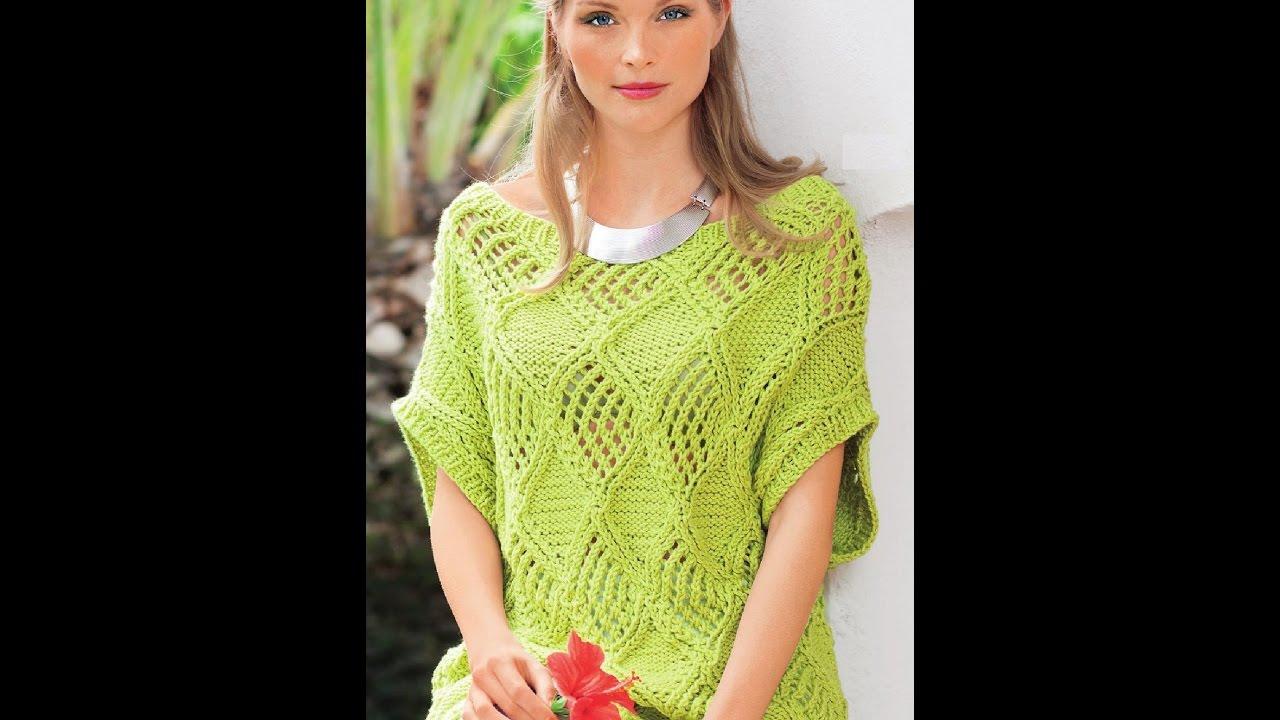 Модели для вязания спицами на лето и весну