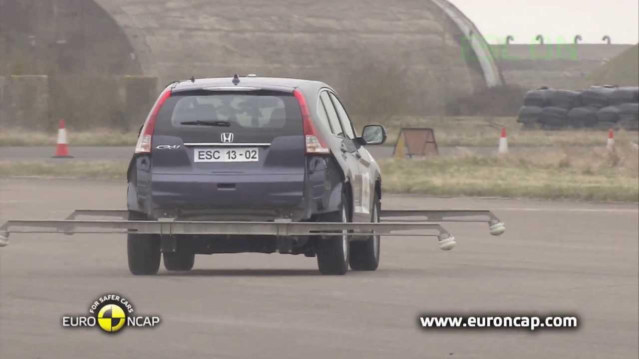 2013 honda crv crash test euro ncap 2013 esc test for Honda crv crash test