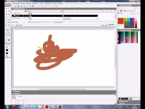 Как сделать анимацию на flash macromedia flash