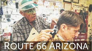 💈 History and Haircut with National Treasure Guardian Angel of Route 66   Seligman AZ