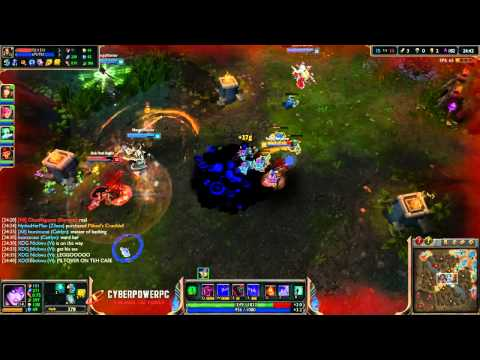 Morgana Game (Mid Vs Nidalee) 1/5/2014