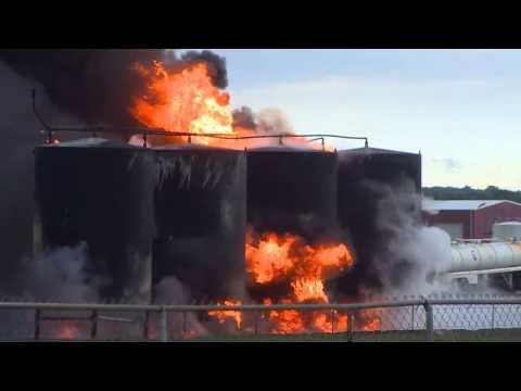 Lightning Blamed For Explosion, Fire at Deanville Oil Well Site