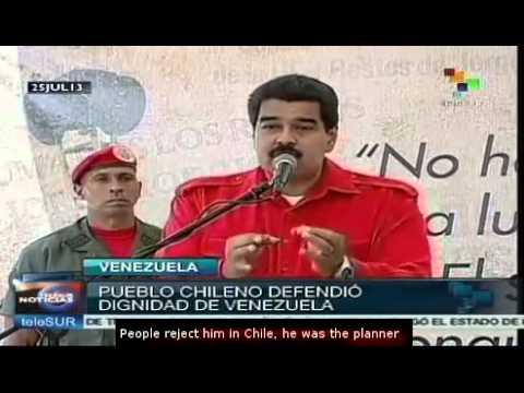 Venezuelan opposition linked with Pinochet's officials: Nicolas Maduro