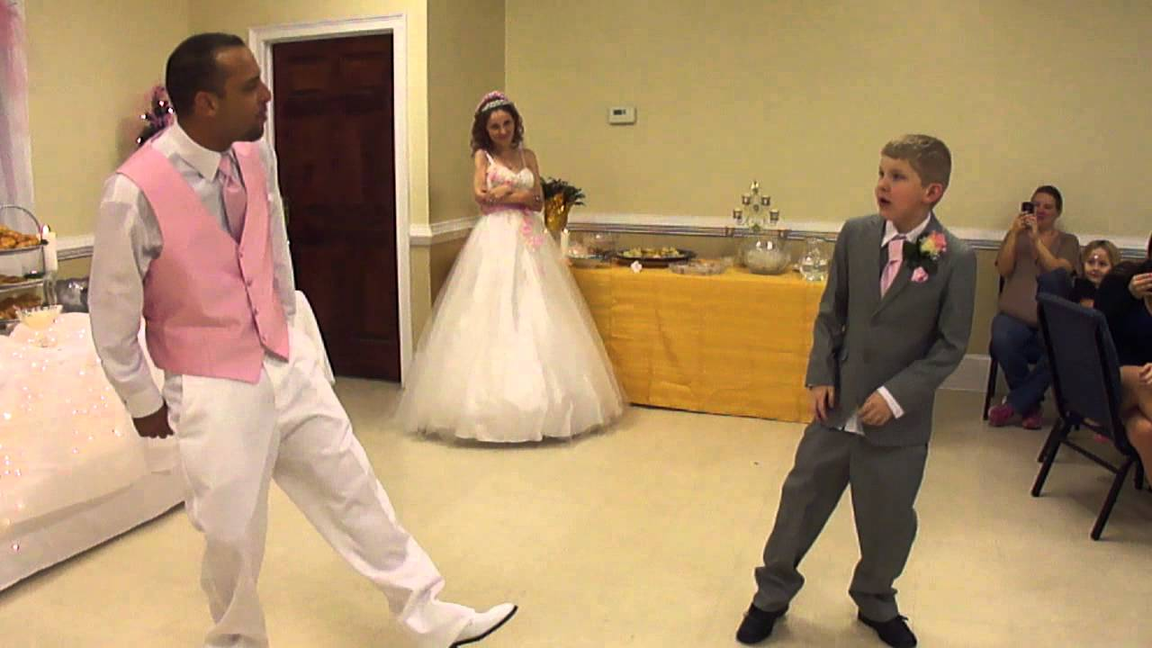 Step father at wedding