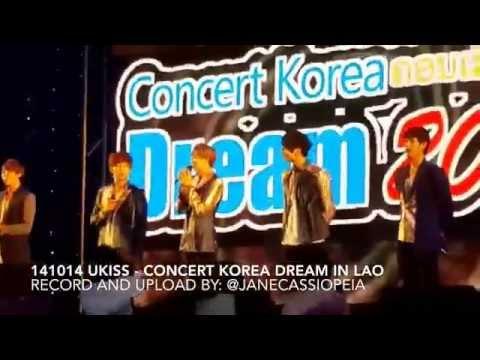 [FANCAM] 141014 UKISS at Concert Korea Dream in Lao