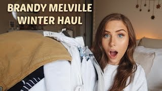 HUGE Brandy Melville Collective Try On Winter Haul | Sweatshirts, Sweaters, Thermals & More!
