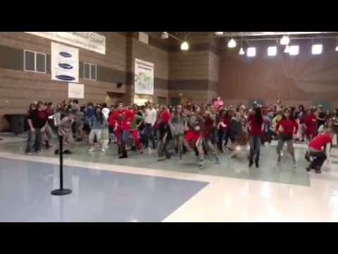 Tonaquint Intermediate school flash mob to Gangum style