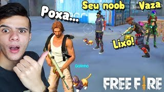 FINGINDO SER NOOB NO FREE FIRE (Trollagem)