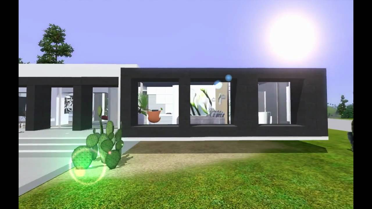 Hd modern minimalist luxury house design youtube for Minimalist house sims 2