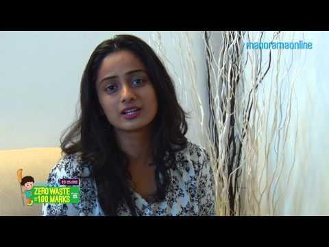 Namitha Pramod joins Zero Waste =  100 Marks Campaign   Manorama Online Clean Kerala Mission