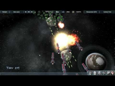 Gameplay video of Interstellar defence troops