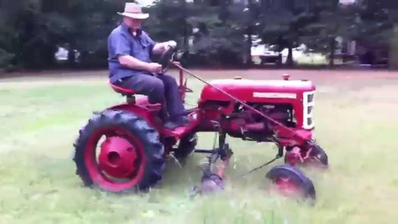 Farmall Sickle Bar Mower : Ih farmall cub sickle mowing youtube