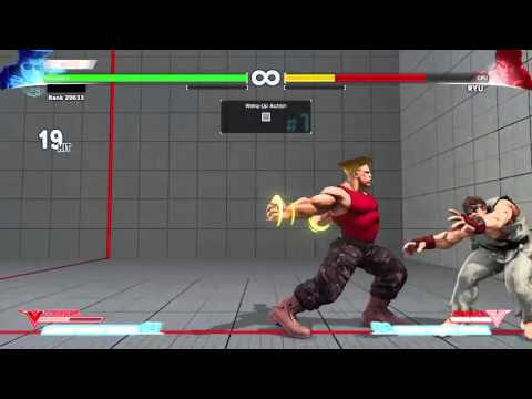 [SFV] Guile Concept Video - Post HK Somersault Kick Meaty + Combo