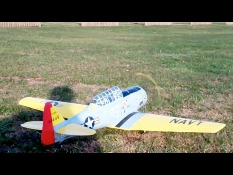 Banana Hobby AT-6 with sound Flight Review