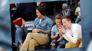 David Beckham Takes His Sons to the Lakers Game - Splash News | Splash News TV | Splash News TV