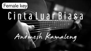 Andmesh Kamaleng - Cinta Luar Biasa Female Key ( Acoustic Karaoke )