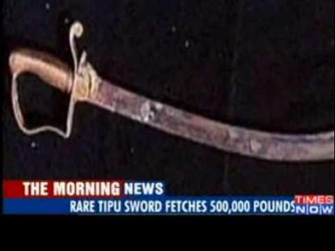 Tipu Sultan's sword in Indian hands