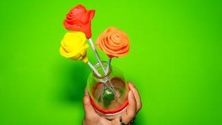 Làm 3 hoa hồng cực đẹp, dễ làm bằng đất sét Play Doh - How to make a Play Doh flower