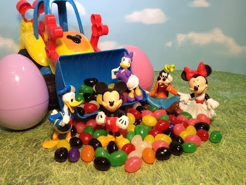Disney Junior Mickey Mouse Clubhouse Candy Surprise Eggs With Disney Surprise Toys video