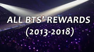 ALL BTS' REWARDS (2013 - 2018) #5thFlowerPathWithBTS