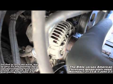 How to Remove & Replace Alternator 01-07 Toyota Sequoia