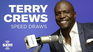 Terry Crews Speed Draws While Answering Questions
