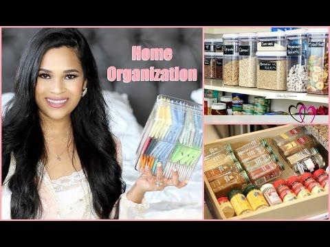 Spring Cleaning Organization Tips -  Kitchen And Bathroom Organization MissLizHeart