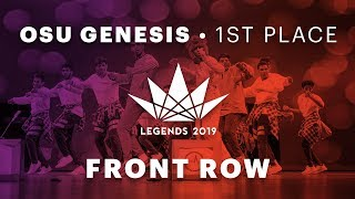 [First Place] OSU Genesis | LEGENDS Bollywood Dance 2019 | [@VIBRVNCY Front Row] HD