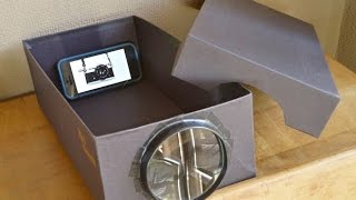 Build A Smartphone Projector With A Shoebox | How to make a Smartphone Projector