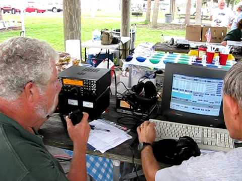 Amateur Radio Operators at ARRL Field Day, Martin County, Stuart, Florida