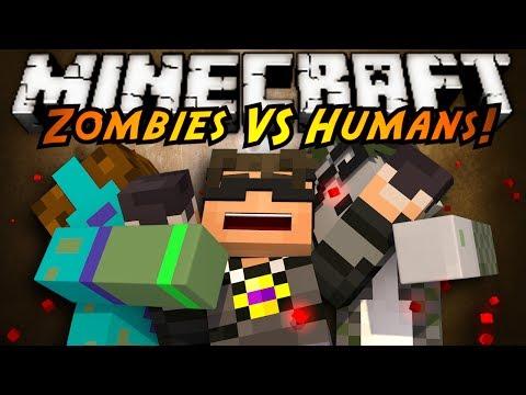 Minecraft Mini-Game : ZOMBIES VS HUMANS!