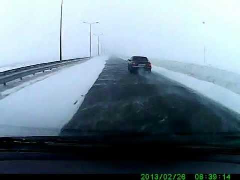 Авария при въезде в Астану 26.02.2013 год