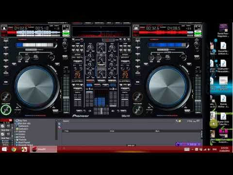 Virtual DJ pro mix @Skin Pioneer controller DDJ V1 House Music