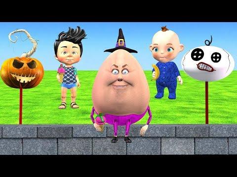 Funny Halloween Songs For Children - Humpty Dumpty Nursery Rhyme For Kids
