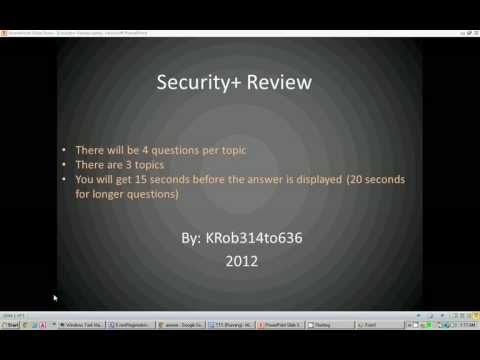 0 CompTIA Security+ [SY0 301] Review / Computer Security Quiz