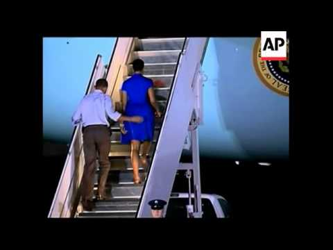 President and family end holiday, leave Hawaii