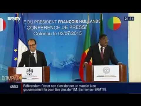 Lénorme moment de solitude de François Hollande pendant que le président du Bénin met une plombe à r