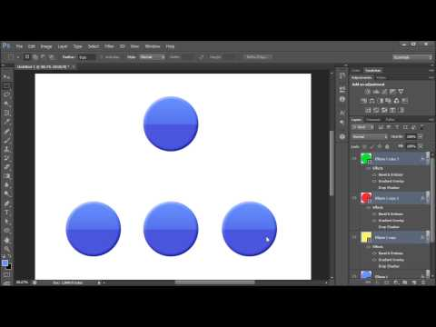 60 Second Photoshop Tutorial : Copy, Paste, and Clear Layer Styles -HD-