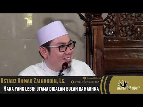 Mana Yang Lebih Utama Di Bulan Ramadhan