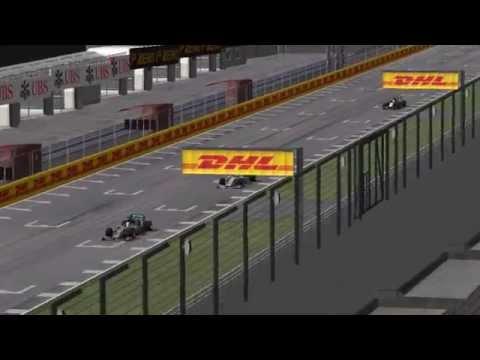 F1 2014 - HUGE CRASH - Hamilton & Rosberg @ Suzuka (rFactor)