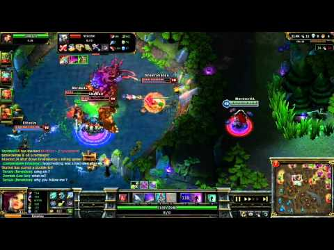 [LoL] Katarina Pentakill+Baron 1v5 (leagucraft.com video contest winer)