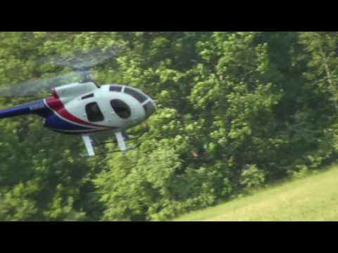 Hughes 500E Trex 450 Slow Flying