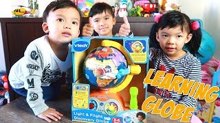 Let's Explore the world with Vtech Light & Flight Discovery Globe Learning Toy for Kids