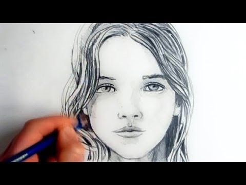 How To Draw A Female Face Step By Step Youtube