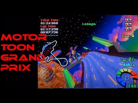 Motor Toon Grand Prix (2?) playing on the Playstation (PS1)